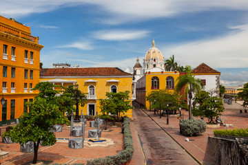 Colonial architecture downtown Cartagena, Colombia