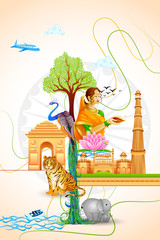 vector illustration of Culture of India