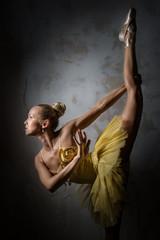 Lovely ballerina in yellow tutu