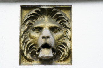 Stone Lions face