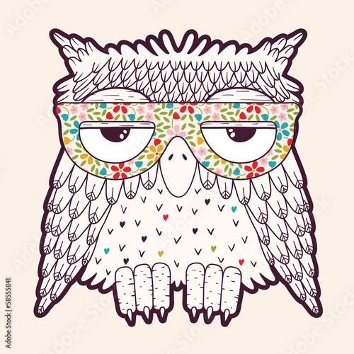 Owl in glasses - 58555841