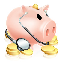 Medical Piggy Bank Concept
