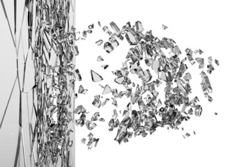 Abstract Illustration of Broken Glass isolated on white