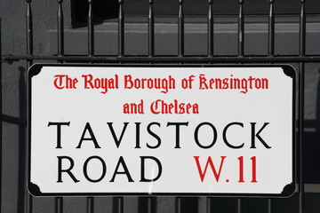 Tavistock Road in central London