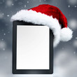 Voucher on tablet pc for christmas with mitre