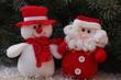 Schneemann mit Weihnachtsmann