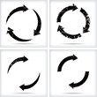 Grunge circular arrows