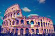 Italy. Rome.  Collosseo,with a retro effect