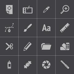 Vector black  graphic design  icons set