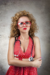 the young woman doctor in perplexity