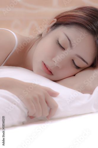 woman sleeping