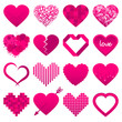Abstract Iconset Hearts Pink