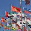 Flaggen der Welt - quatratischer Hintergrund