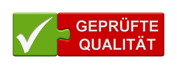 Puzzle-Button grün rot: Geprüfte Qualität