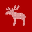 Card Abstract Elk Red