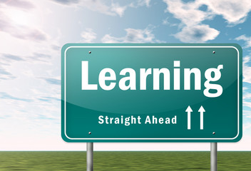 "Highway Signpost ""Learning"""