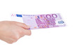 500 Euro überreichen