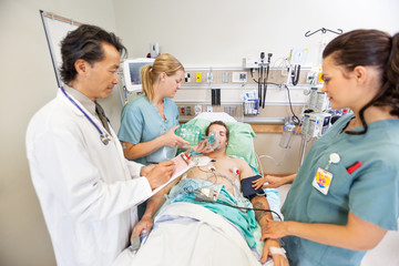 Medical Team Treating Critical Patient