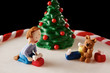 Fondant Christmas tree cake detail