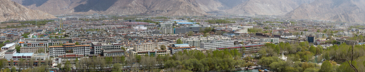 Panorama of the new city of Lhasa, Tibet