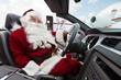 Santa Driving Convertible At Airport Terminal - 58562868