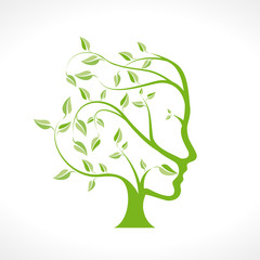 Vector person ecological, think green