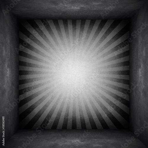 canvas print picture concrete wall with rays pattern