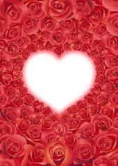 ハート形薔薇の花束
