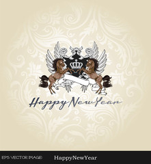 eps Vector image:Happy New Year!