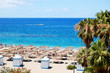 Beach of the luxury hotel, Tenerife island, Spain