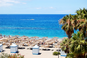 Beach of the luxury hotel, Tenerife island, Spain