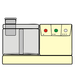 vector drawing of a food processor