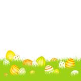 Easter Eggs Meadow Yellow/Orange/Green