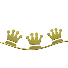 Christmas background, crowns of the Three wise men