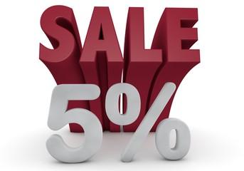 5 Prozent %