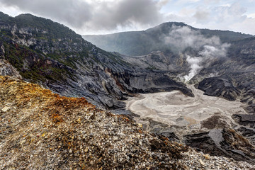 Tangkuban Perahu, the volcanic crater in Bandung, Indonesia