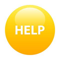 bouton internet help icon orange