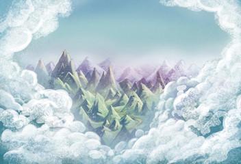 fondo de montañas
