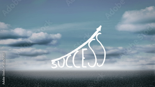Success graphic growing