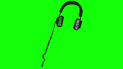 Drawing of headphones