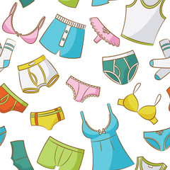 Female And Male Underwear Seamless Pattern