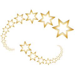 Goldene Sternschnuppen - Sterne
