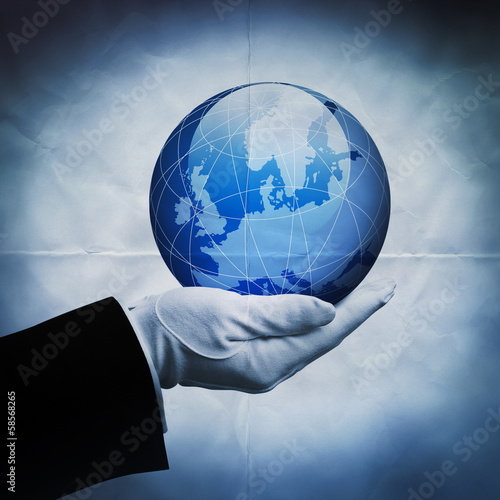 europe globe paper backdrop