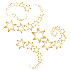 Goldene Sternschnuppen - Sterne - Schweif