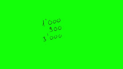 Animation of easy calculation