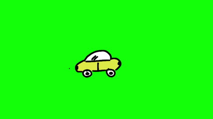 Animation of appearing colourful car