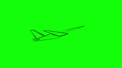 Animation of slowly appearing white aeroplane