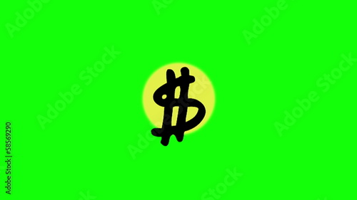 Animation of appearing dollar sign