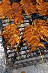 Mexican shrimp barbecue