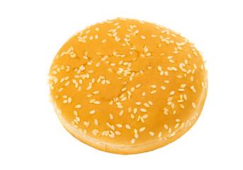 hamburger buns isolated